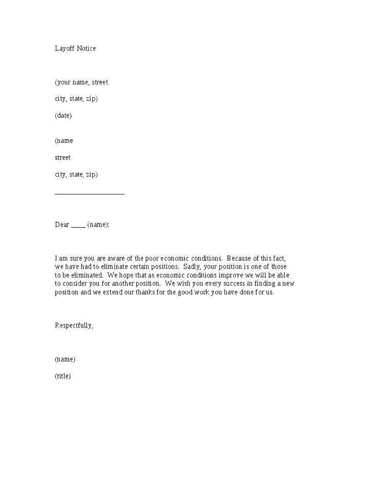 5 layoff notice letters find word letters
