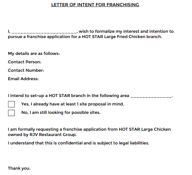 5 letters of intent for franchise find word letters letter of intent for franchise 01 expocarfo Image collections