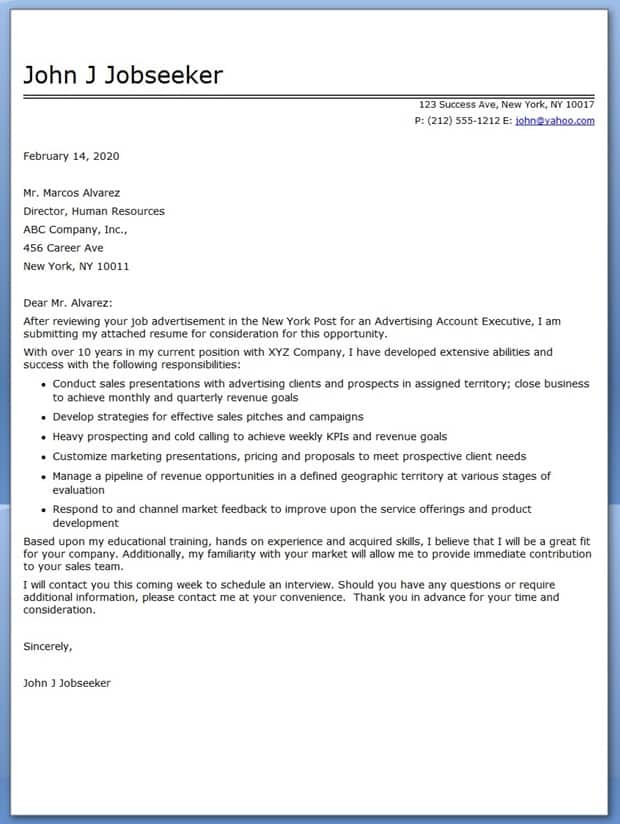 Executive Resume Cover Letter 04