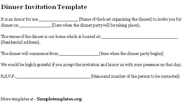 5+ Invitation Letters for Dinner – Find Word Letters