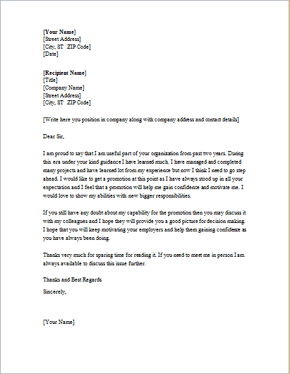 Letter Of Intent For Promotion from www.findwordletters.com