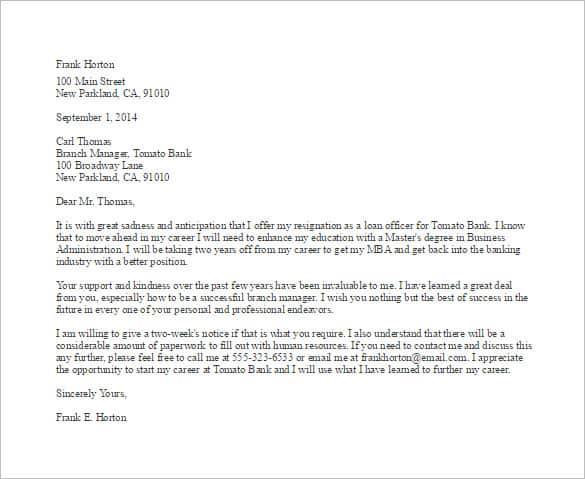 Teacher Resignation Letter For Personal Reasons from www.findwordletters.com