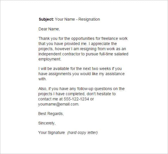 Resign Letter For Worker from www.findwordletters.com