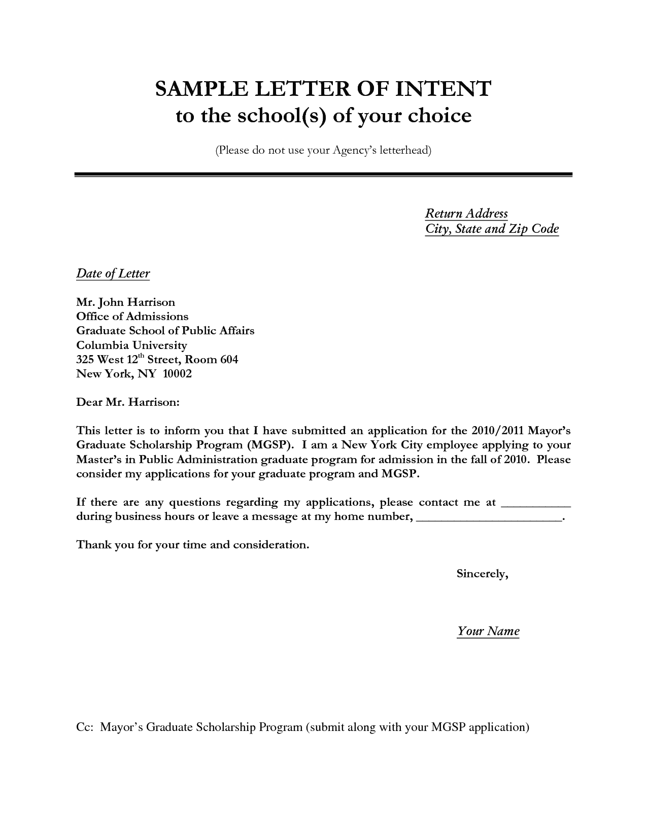 40+ letter of intent templates & samples [for job, school, business].