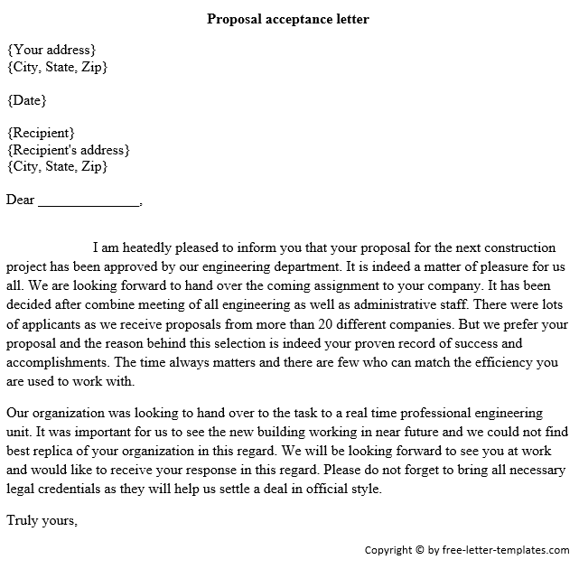 Sample Letter Of Acceptance from www.findwordletters.com