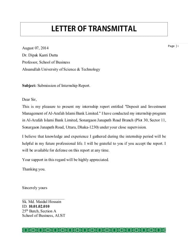 4 Transmittal Letters Find Word Letters