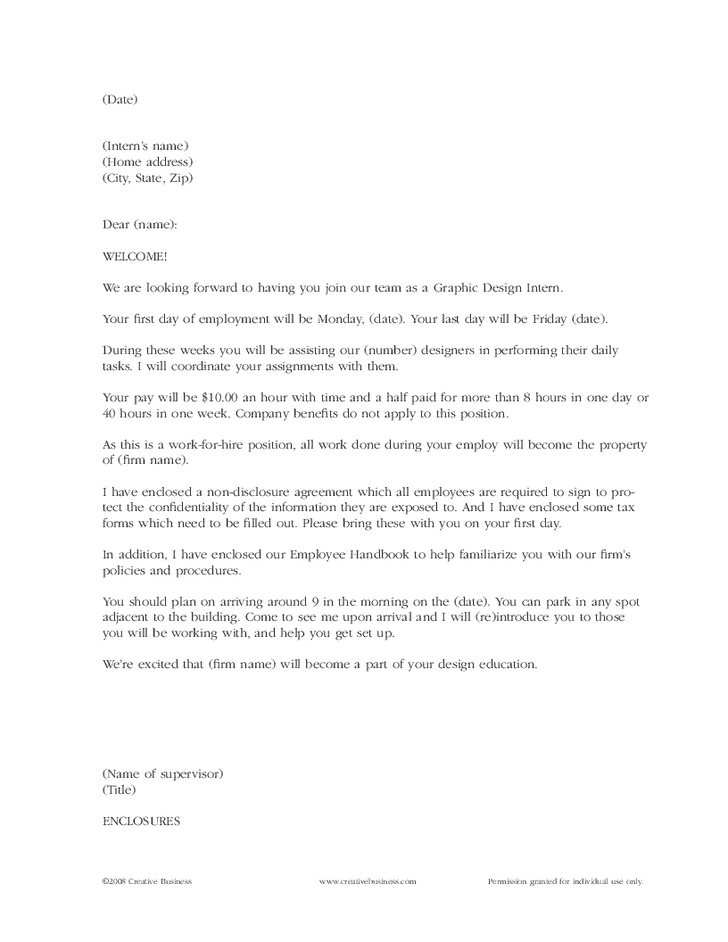 Sample Employee Welcome Letter from www.findwordletters.com
