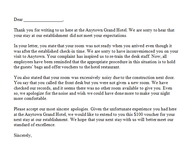 Letter To Corporate Complaint from www.findwordletters.com