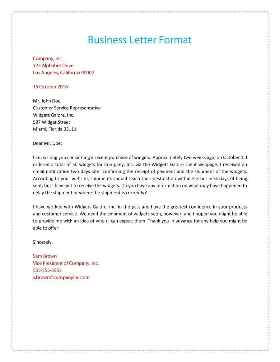 20 Business Letter Formats Word Pdfs Find Word Letters