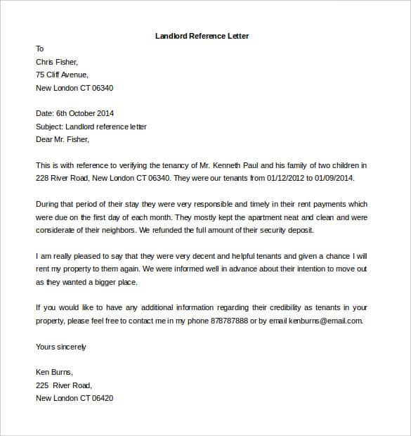 Recommendation Letter For Apartment from www.findwordletters.com