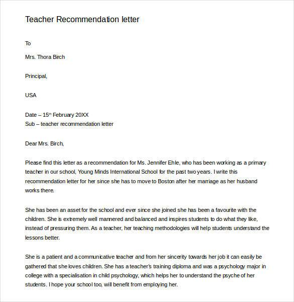 11 Teacher Recommendation Letters Find Word Letters