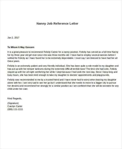 Format For Reference Letter from www.findwordletters.com